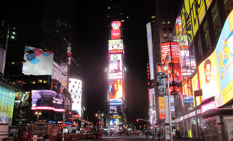 Purchasing Insight logo in Time Square