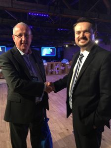 Congratulating Rob Bernshteyn on a successful IPO