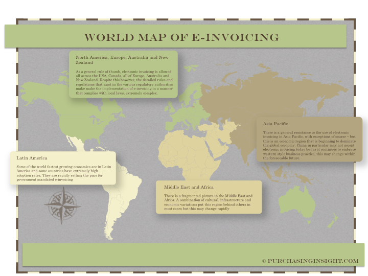 e-invoicing map of the world